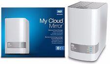 Western Digital WD My Cloud MIRROR 6TB External Hard Drives WDBWVZ0060JWT Gen 2