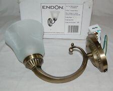 Endon Wandleuchte - Modell Carmen Antique Brass - Messing Milchglas - NEU & OVP