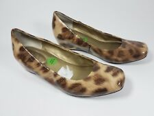 Me too patent leather animal print low wedge shoes uk 6.5 eu 40