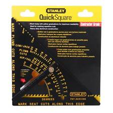 Stanley Adjustable Quick Roofing Square Rafter Saw Guide Protractor Aluminium