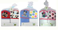 2-PACK Disney Mickey & Minnie Mouse Baby Bath Terry Hooded Towels Gift Set NEW