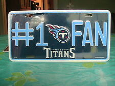 """Tennessee Titans  Car or Truck Tag   """"#1 Fan""""  New never opened"""