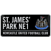 Newcastle United FC Black Colour Street Sign - Free UK 1st Class Delivery