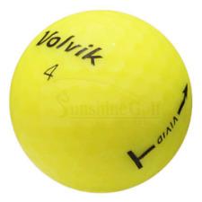 12 Near Mint Volvik Vivid Matte Yellow Used Golf Balls (4A) - Free Shipping