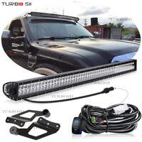 50 Inch Curved LED Light Bars Combo Kit Upper Roof For 2005-12 Nissan Pathfinder