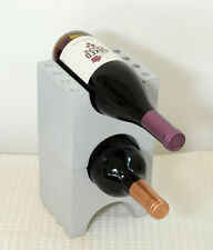 NEW  WINE STORAGE RACK MODULAR STACKING  IN VIBRANT SILVER - WHOLESALE