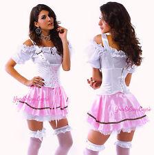 Sexy Beer Girl OKTOBERFEST Costume Barvarian MAIDEN COSPLAY Pink Halloween SML
