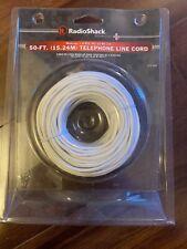 RadioShack 50 FT. (15.24M) Telephone Line Cord Sealed 279344 White