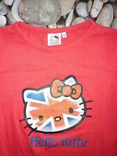 T.Shirt rouge HELLO KITTY union Jack 14a =164 = 34 36 cadeau NEUF