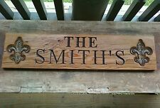 PRIMITIVE SIGN~Custom Small Boat House, Dock, Home, Name Plaque, Made To Order