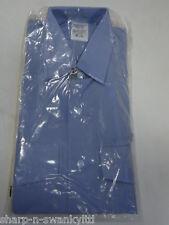 "☆ BNWT NEW Mens Blue Long Sleeved Work Shirt Top Size 14.5"" collar ☆"