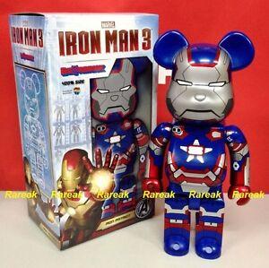 Medicom Be@rbrick 2013 Marvel Avengers Iron Man 3 400% Iron Patriot Bearbrick 1p