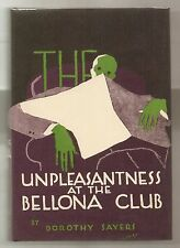 THE UNPLEASANTNESS AT THE BELLONA CLUB 1928 DOROTHY SAYERS 1st U.S. EDITION WFDJ