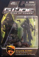 GI JOE Rise of Cobra Snake Eyes Paris Pursuit with Black Timber G.I. Joe Sealed