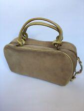 ESCADA Vintage Beige Velvet Handbag