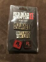 Red Dead Redemption II 2 Pin Set Collectable Brand New Sealed Rockstar 2018 N2@