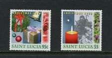 St. Lucia 2008  #1256-7   Christmas nativity candles wreath  2v.   MNH  M217