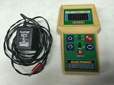Coleco Electronic Quarterback Handheld Football Game with AC Power Supply