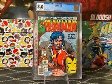 "Iron Man #128 CGC 8.0 WP Key ""Demon in a Bottle"" NEWSTAND"