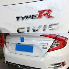 For 3D Aluminum TYPE-R Car Front/Rear Badge Fender Body Emblem Decal Sticker X1