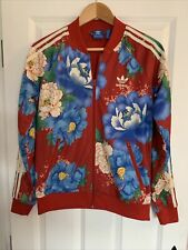 Ladies Adidas Jacket Red Floral Size 12
