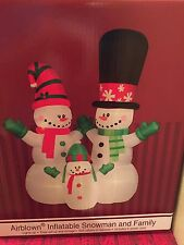Huge New Christmas 12' Lighted Gemmy Airblown/Inflatable Snowman And Family