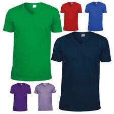 Gildan Oversized V-Neck T-Shirts for Men