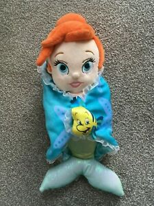 Disney Parks Store Babies Baby Ariel and Flounder Soft Toy