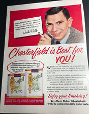 1953 Chesterfield Cigarettes Ad Dragnet TV Star Jack Webb Hollywood