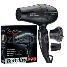 BaByliss Pro Bambino Nano Titanium Travel Size Hair Dryer+2 Nozzles/BaBylissPRO