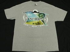 NEW Mens Fly Society T-Shirt Aces High Tee Grey Urban *Made In USA* Size XL M660