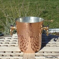 Mauviel Hammered Copper Champagne Ice Bucket, Made in France  NEW