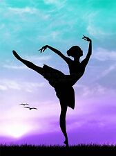 ART PRINT POSTER PHOTO MOCK UP SILHOUETTE SUNSET BALLET DANCER LFMP0731