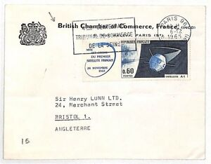 AJ141 FRANCE GB MAIL 1965 Paris*British Chamber Of Commerce* SPACE Cover Bristol