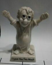 "Vintage 1970 R And W Berries ""I Love You This Much"" 6 Inch Tall Figurine"