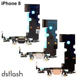 Cable Flex Conector Carga iPhone 8 Microfono Dual Flex Antena Dorado Gris Negro
