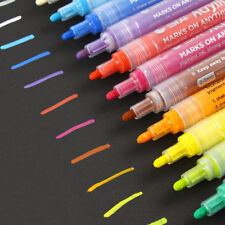 14Colors/set Acrylic Markers Candy Color Highlighter Waterproof Paint Marker Pen