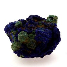 Chessylite ( Azurite ) + Cuprite. 6.33 ct. Chessy-les-Mines, Rhône, France. Rare