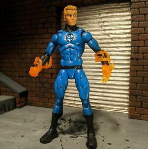 Marvel Legends HUMAN TORCH Fantastic Four Action Figure - custom painted blue