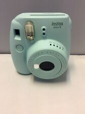 FUJIFILM INSTAX MINI 9. ICE BLUE INSTANT CAMERA.GOOD CONDITION. No AABatteries.
