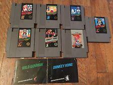 Nintendo Nes Huge lot Rare 5 Screw Games!  Goonies, Wild Gunman, Plus Many More