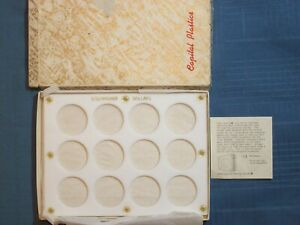 "COIN CAPITAL DISPLAY CASE WHITE PLACARD FRAME EISENHOWER DOLLARS IN BOX 8"" X 6"""