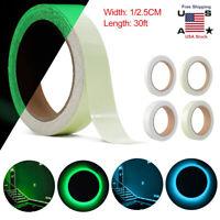 Glow In The Dark Sticky Tape Self Adhesive Luminous Saftey Film Sticker Roll USA