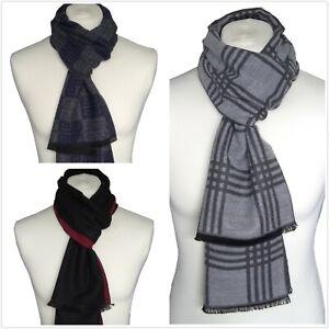 Man Fashion 100% Silk or Cashmere Blend Frayed Scarf (Soft, Cashmere feeling) UK