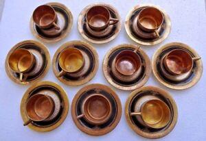 CUP SAUCER GOLD GILDING PIRKENHAMMER CZECHOSLOVAKIA VINTAGE PORCELAIN DECORATIVE