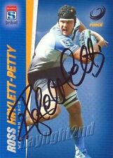 ✺Signed✺ 2017 WESTERN FORCE Rugby Union Card ROSS HAYLETT-PETTY