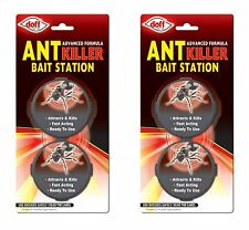 2 Ant Killer Trap Stop Bait Destroy Ants Nest Home Stations 4 Traps Kill