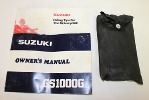 Suzuki GS1000G GS850G '79-'81 FACTORY TOOL KIT and OWNERS MANUAL