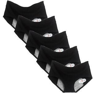 5 Pack Womens LeakProof Period Knickers Cotton Panties Menstrual Underwear Pants