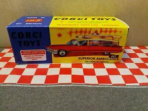 CORGI TOYS 437  Superior Ambulance EMPTY REPRO BOX ONLY NO CAR